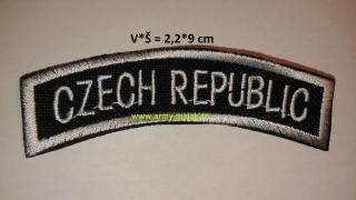 Nápis CZECH REPUBLIC